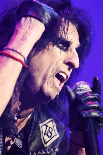 Alice Cooper performs at the SSE Arena, London, UK.