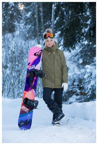 Olympian Aimee Fuller. Laax, Switzerland | © Sam Mellish 2021