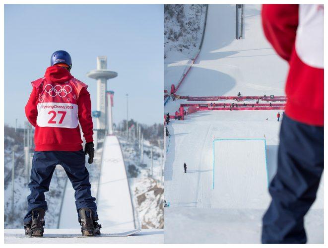 Billy Morgan during the Pyeongchang 2018 Winter Olympics Mens Big Air Final | © Sam Mellish 2021