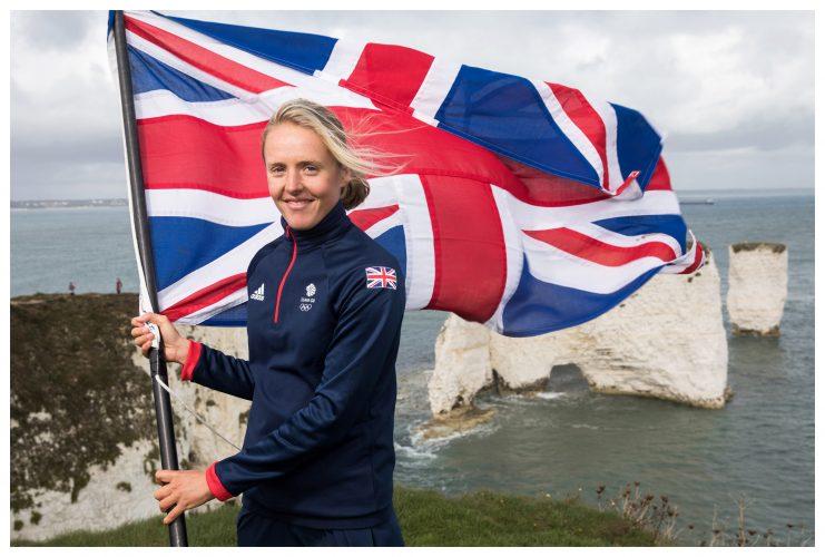 British windsurfer, Emma Wilson at Team GB Tokyo  Announcements in Dorset | © Sam Mellish 2021