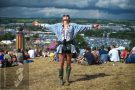 Glastonbury 'between the rain'