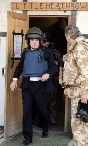 British Prime Minister Gordon Brown leav