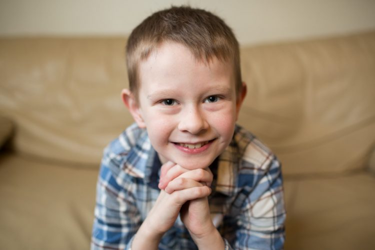 Tyler, aged 10, recipient of a transplanted heart
