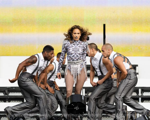 Jennifer Lopez on stage at Hyde Park