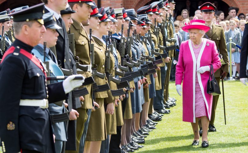 Queen Elizabeth II visits Berkhamsted School