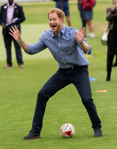 Prince Harry visits Coach Core at Lord's Cricket Ground