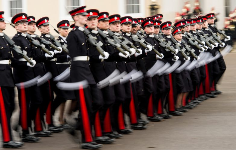 The Sovereign's Parade at Royal Military Academy Sandhurst