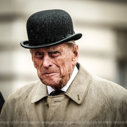 The Duke of Edinburgh attends his last formal duty, The Captain General's Parade on the Buckingham Palace Forecourt