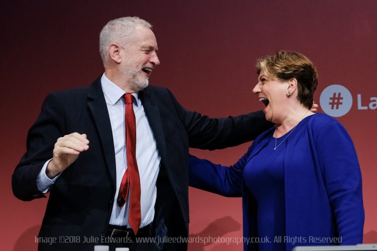 Emily Thornberry, Jeremy Corbyn at Labour Party Autumn Conference