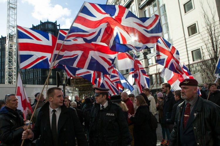 Protest broke at The Old Bailey trial of Lee Rigby murderer.