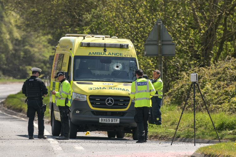 PARAMEDIC DEAD AS AMBULANCE STRUCK BY OBJECT NEAR HEREFORD