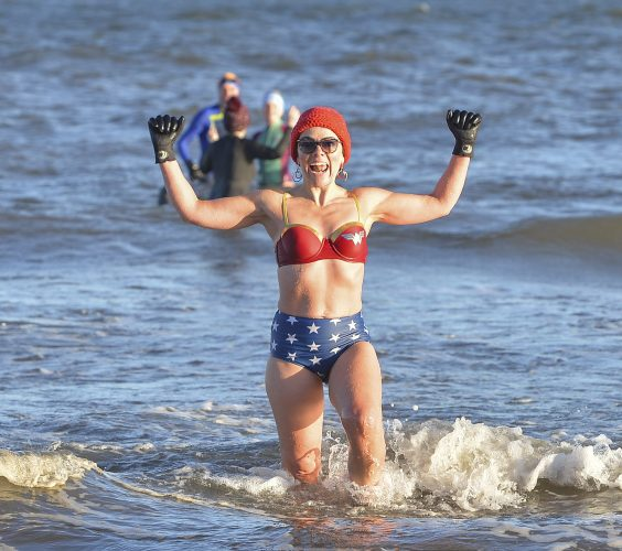 Swimmers take to water in New Years Day swim despite lockdown, Friday 01 January 2021