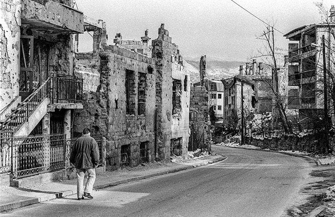 A country destryed.