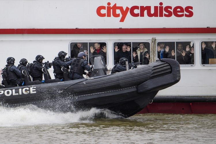 Ant-Terrorist training exercise on the River Thames
