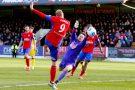 26/12/2016.  Aldershot Town v Woking FC. Scott RENDELL scores