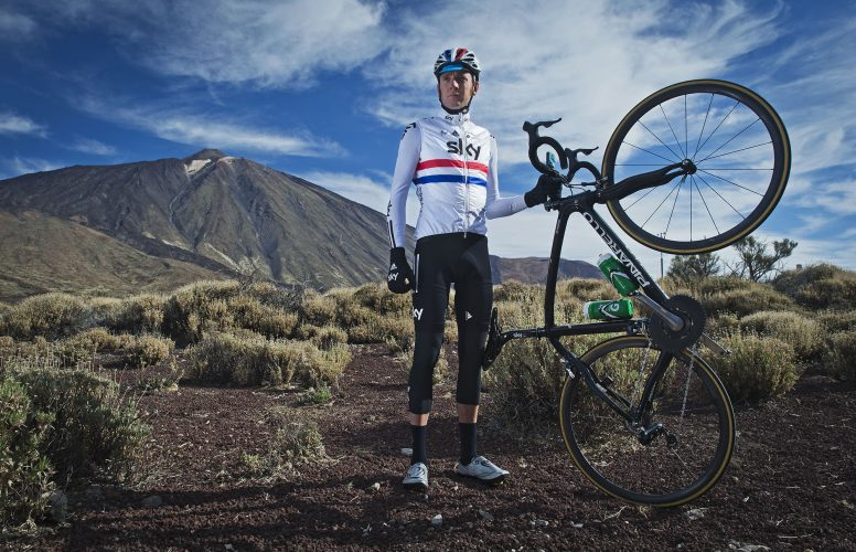 Bradley Wiggins Training in Tenerife