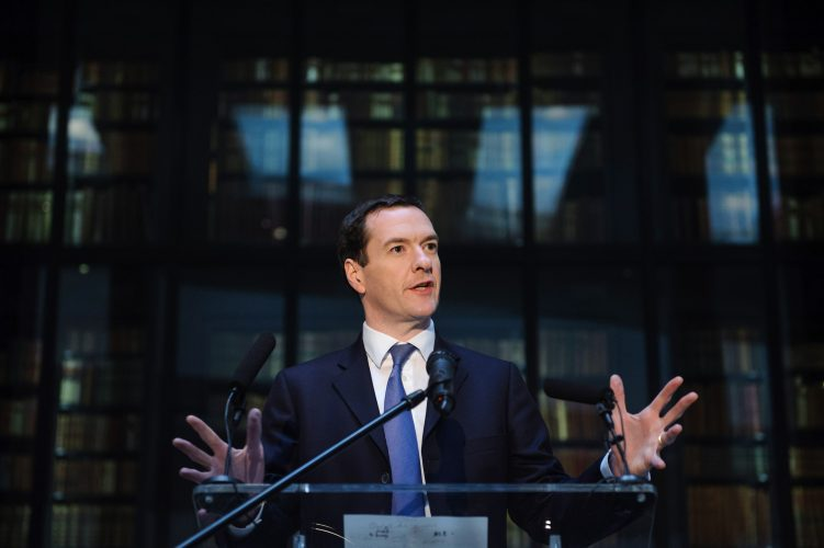 George Osborne at The British Library.