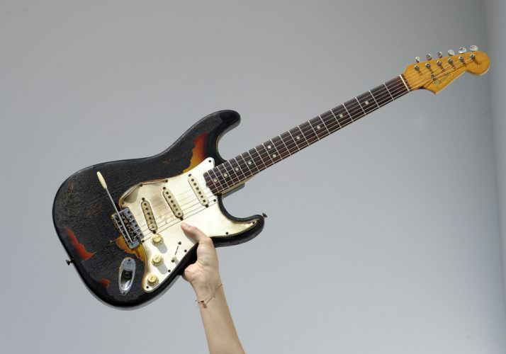 Scorched Jimi Hendrix guitar sells for £280,000