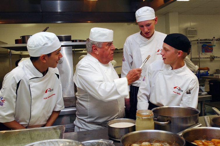 Chef Albert Roux, Redbridge College, London.