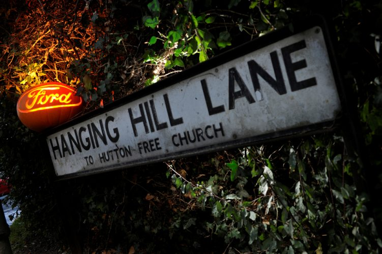 Spooky road names, Brentwood, Essex.