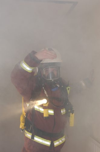 London Fire Brigade training exercise, Chigwell, Essex.