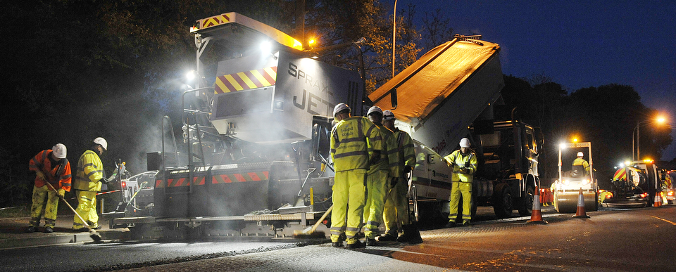 Road resurfacing works, The Isle of Wight.