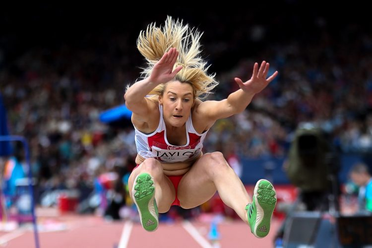 Jessica Taylor of England competes in the Long Jump of the Women's Heptathlon on Day 7 of the Glasgow 2014 Commonwealth Games.