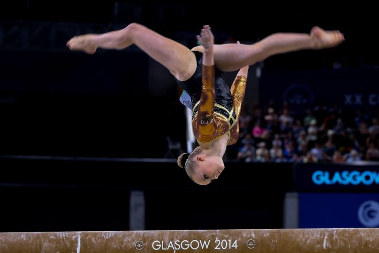Georgina Hockenhull of Wales competes in the Women's Beam final on Day 9 of the Glasgow 2014 Commonwealth Games.
