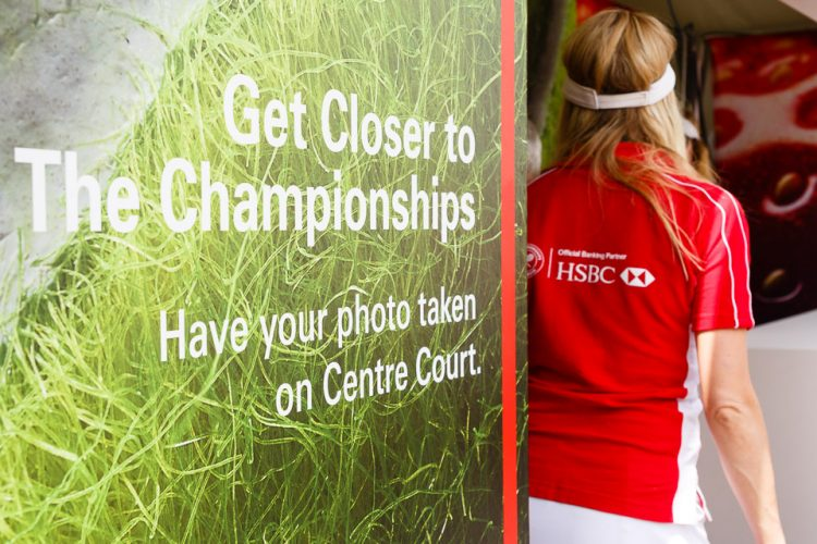 HSBC at the Wimbledon Championship 2014.
