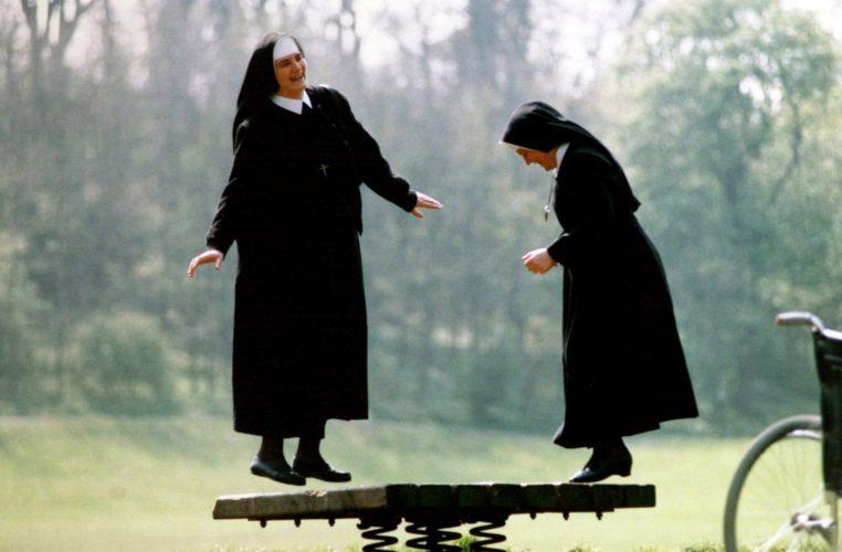 Slovenian Nuns in park © Graeme Hunter Pictures