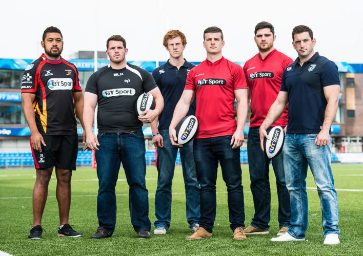 Launch of BT Sport partnership with Welsh Rugby Regions at Cardiff Arms Park, Britain
