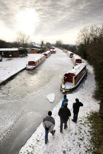Frozen canal, Warwickshire