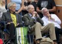 Piers Corbyn, Doctor Vernon Coleman and, David Icke at the Worldwide Rally For Freedom protest on Saturday 24 July 2021 in Trafalgar Square, London