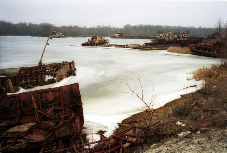 Chernobyl, frozen harbour
