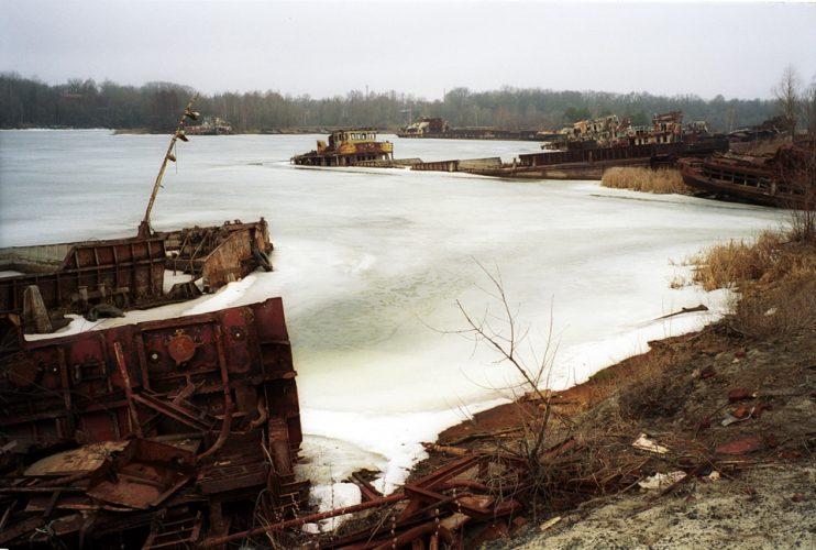 Chernobyl, frozen harbour