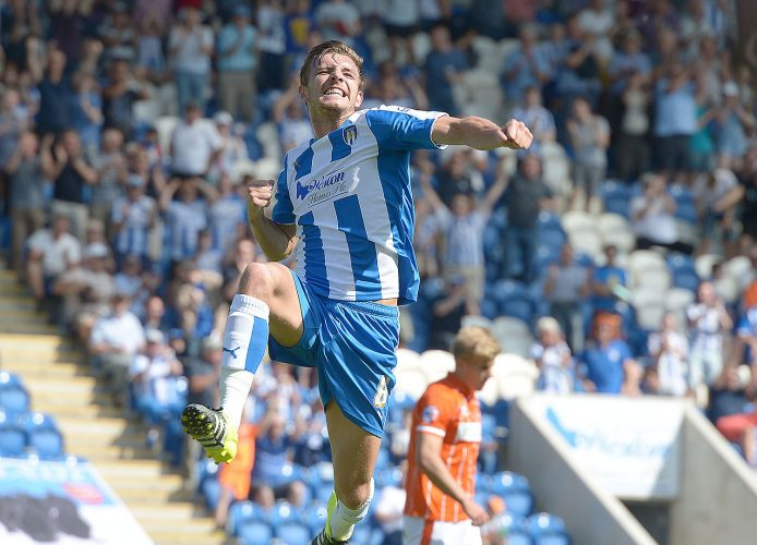 Colchester Utd v Blackpool, League1 Football 8th August 2015