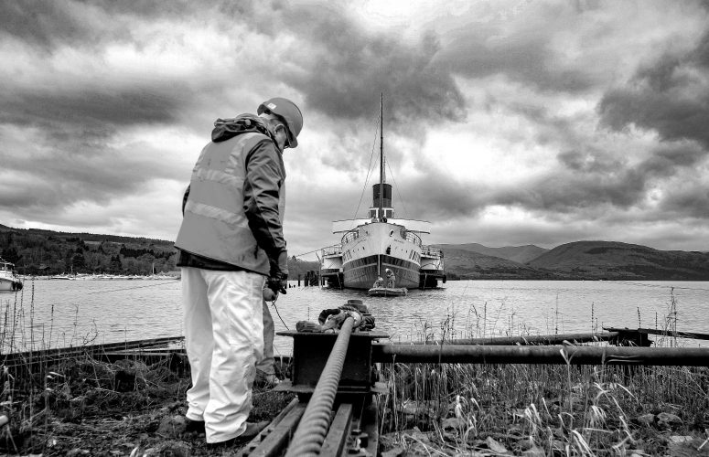 Historic paddle steamer pulled from Loch Lomond, Thursday 10 January 2019