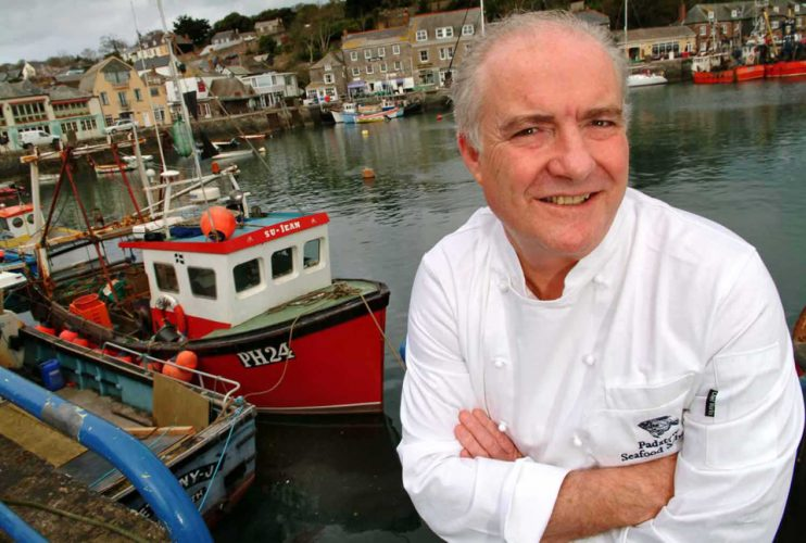 Celebrity chef Rick Stein in Padstow.