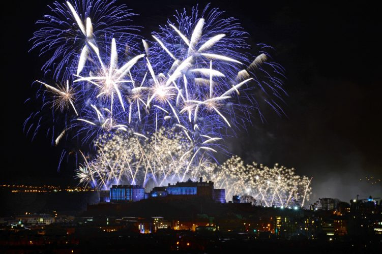 Edinburgh New Year Firework Display