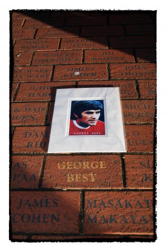 George Best tribute at Old Trafford.