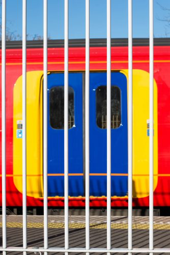 Abstract Image of a Southwest Trains Railway Coach Parked Behind
