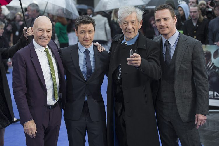 MIchael Fassbender, Ian McKellen, Patrick and James McAvoy