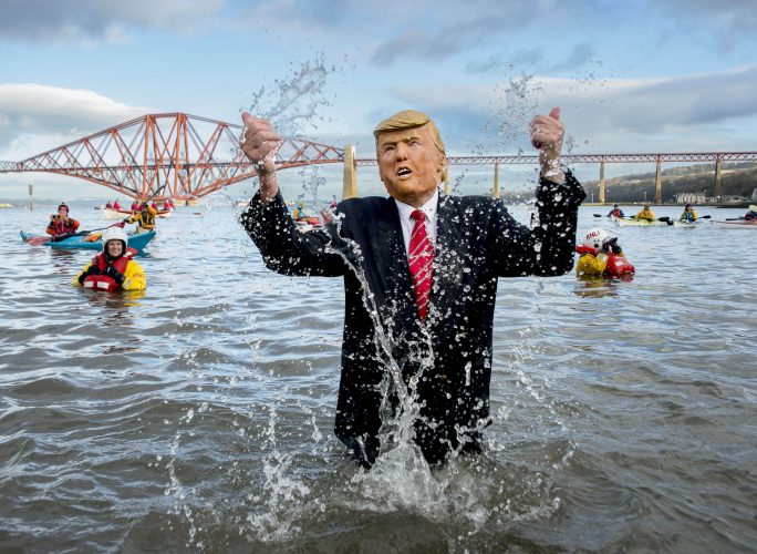 Annual Loony Dook New Years Day swim, South Queensferry, 01 January 2019