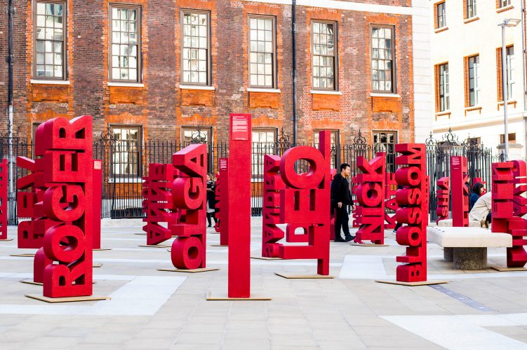 Blood Cancer Awareness Paternoster Square London, September 2017