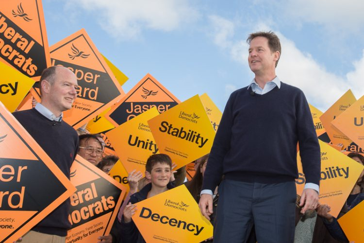Nick Clegg campaigns in Kent