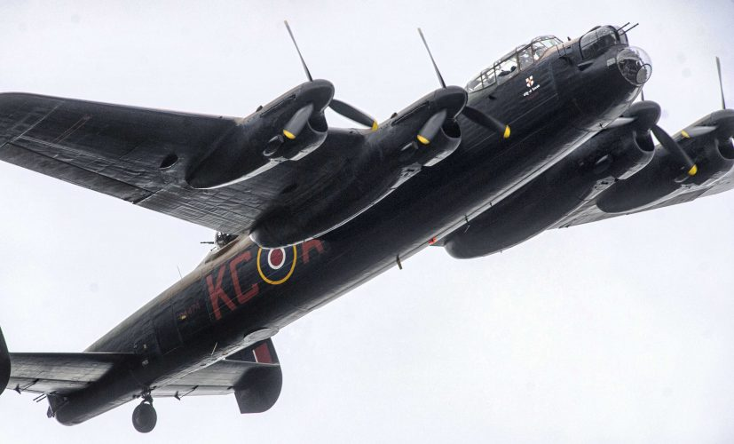 Lancaster Flypast at RAF Museum