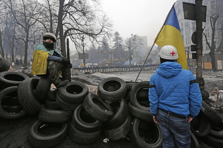 Euro-Maidan protests Hrushkevskoho street, Kiev