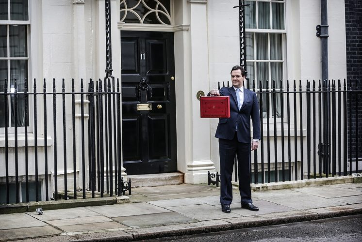 Budget Day: Chancellor George Osborne outside N0.11 Downing Street