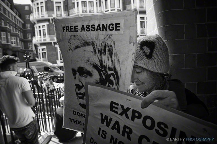 Julian Assange supporters