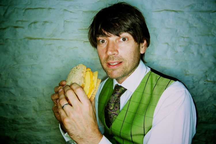 Alex James, bassist from Blur turned cheese maker. Oxfordshire.